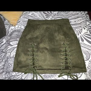 Dresses & Skirts - Green lace up pencil skirt
